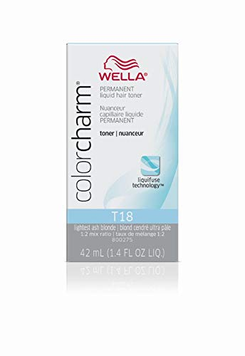 (Wella Color Charm Permanent Liquid Hair Toner T-18, White Lady, 1.42 Fl. Oz.)