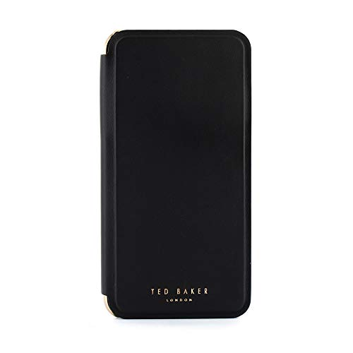 (Ted Baker Fashion Mirror Folio Case for iPhone Xs Max, Protective Cover iPhone Xs Max for Professional Women/Girls - Shannon - Black)