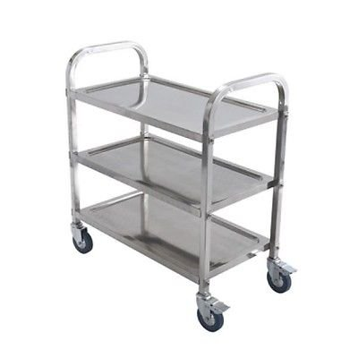 "Stainless Steel 3-Level Trolley - 30"" x 16"" x 32"""
