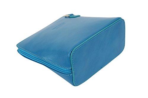 VL508 cuir bleu en ciel Bag City Moda Petit bandoulière AMBRA Sac w488X1