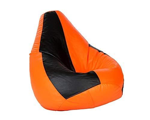 CaddyFull Large Bean Bag Cover Black  amp; Orange