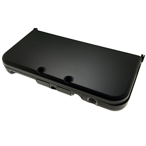 Br   For New Nintendo 3Ds Xl Case Cover Hybrid Aluminum Metal Overlay Hard Plastic Protector   Free Screen Protectors  Black