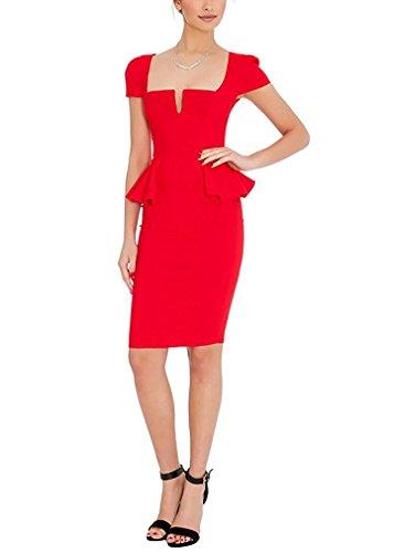 Ssyiz - Vestido - Estuche - para mujer Rosso