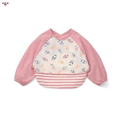 Macxy - 6-24 Meses bebé de la Historieta Delantal Impermeable Baberos niñas niño de