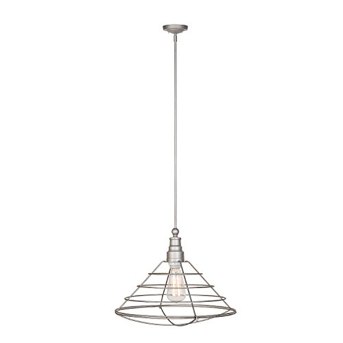 Design House 519660 Ajax 1 Light Pendant, Galvanized Steel Finish