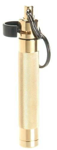 ASP Palm Defender Pepper Spray with Keychain, Quick Release, OC, Police Strength, Heat Insert Included, 3 Foot Range, Discreet (Gold) by ASP