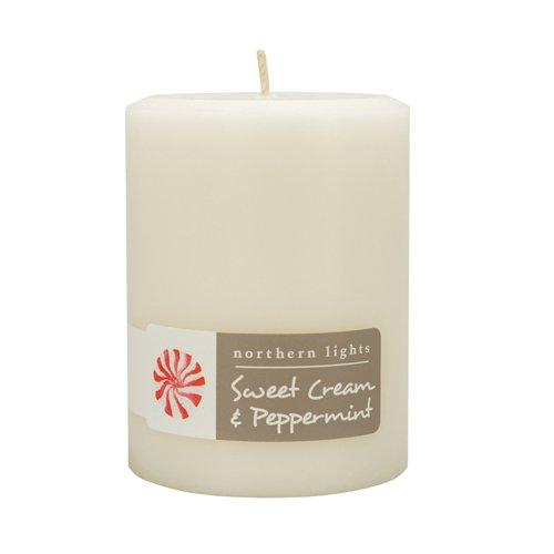 Northern Lights Candles Fragrance Palette 3x4 Pillar Sweet Cream & Peppermint