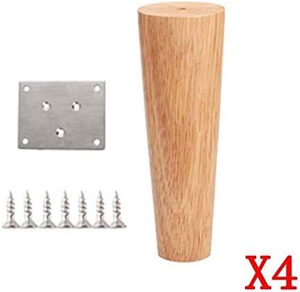 GCX- テーブルと椅子の足4×ソリッドウッドの家具コーヒーテーブル木製テーブル脚キャビネット食器棚、テーブルベッドのサポートフットアクセサリー 滑り止め (Size : 8cm)