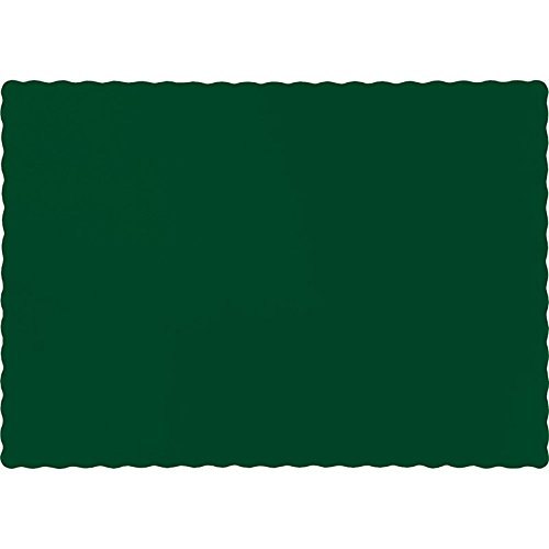 Paper Hunter Placemat (Club Pack of 600 Solid Hunter Green Disposable Table Placemats 13.5