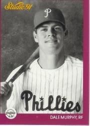 1991 Studio Baseball Card #220 Dale Murphy (Murphy Baseball Card)