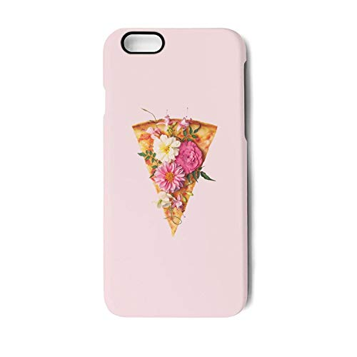 Case for Apple iphone 7 Plus and iphone 8 Plus vegetarian pizza and flower party Shock-Absorption Bumper Cover Anti-Scratch Clear