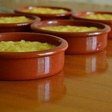 Tazón de fuente de terracota tradicional Portuguesa de postre (4 unidades)