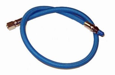 New 30 Inch Low Pressure Braided Scuba Regulator Hose (Blue-MaxFlex)