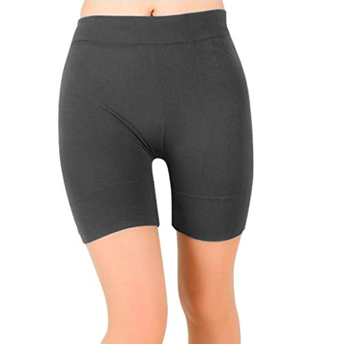 (Toponly High Waist Yoga Shorts, Workout Running Shorts with Side Pockets Tummy Control Compression Shorts for Women Gray)