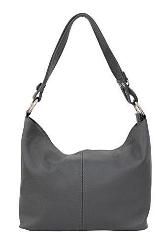 gris pour épaule GL005 à Ambra Moda foncé Porté Hobo Sac main Modèle Femme 0BPnnqUR