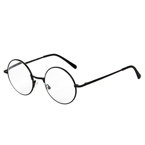 LianSan Designer Classic Retro Round Circle Men Women Reading Glasses 1.0 1.5 2 00 2.50 3.0 3.5 4.0 L6800 Black ()