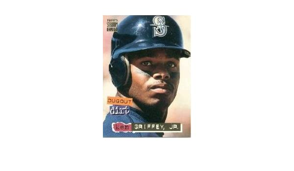 86bd089b24 Amazon.com: 1994 Topps Stadium Club Dugout Dirt Baseball Card #DD7 Ken  Griffey Jr. Mint: Collectibles & Fine Art
