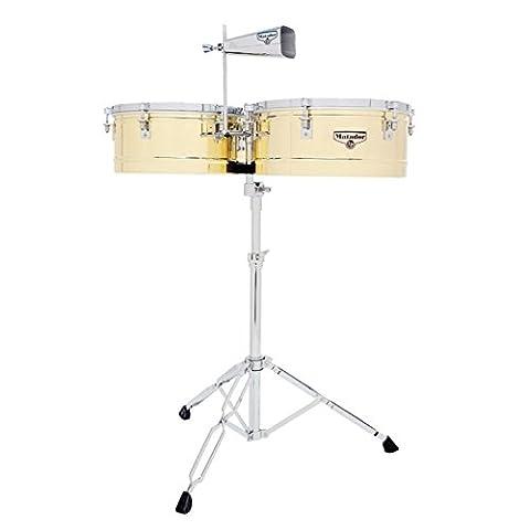 Latin Percussion M257B Timbal Brass / Chrome (Lp Matador Stand)