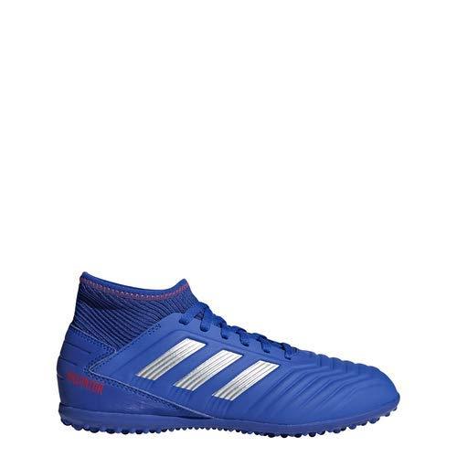 - adidas Unisex Predator 19.3 Turf, Bold Blue/Silver Metallic/Active red 2 M US Little Kid