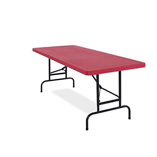 National Public Seating All-American, ADJ, Rectangular Folding Table avaible in Blue or Red, Pack of 20. Red Red Finish