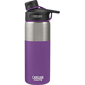 CamelBak (53865) Chute Vacuum Insulated Stainless Water Bottle - Fig, 20 oz
