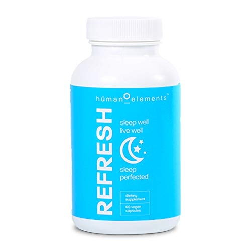 Human Elements Refresh Natural Sleep Aid Supplement, 60 Vegan Capsules ()