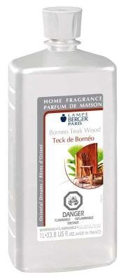Borneo Teak Wood | Lampe Berger Fragrance Refill for Home Fragrance Oil Diffuser | Purifying and perfuming Your Home | 33.8 Fluid Ounces - 1 Liter | Made in France by Lampe Berger
