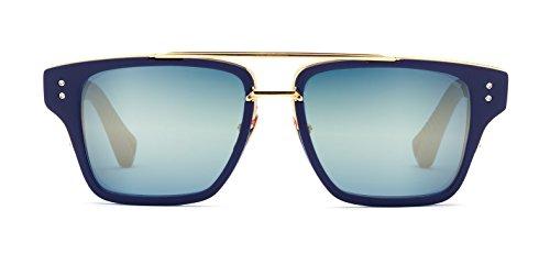 3a09395aaf Dita Mach Three DRX-2059-C DRX-2059C Matte Navy 18K Gold Retro Sunglasses  55mm - Buy Online in Oman.