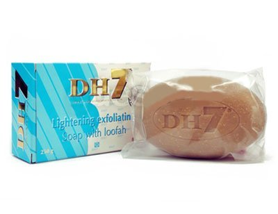 Skin Lightening DH7 EXFOLIATING SOAP with Loofah 250g / 8.75 Oz