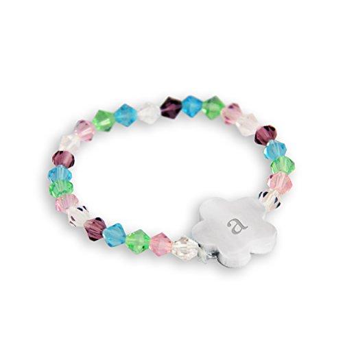 UPC 694546044378, Personalized Flower Girl Charm Bracelet, Monogrammed Letter A