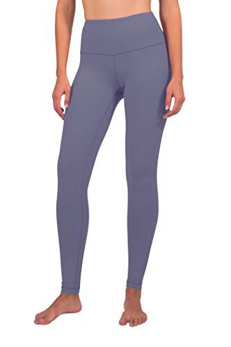 (90 Degree By Reflex - High Waist Power Flex Legging - Tummy Control - Blueberry Ice - Medium)