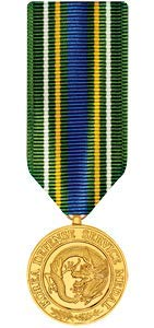 Medals of America Korean Defense Service Medal Miniature Anodized ()