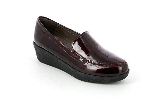 Grünland VATI antracita zapatos mocasín SC2631 zeppetta Bordeaux