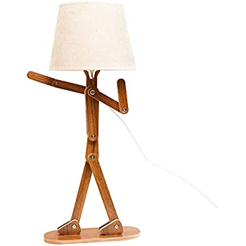 Louie The Lamp Wooden Man Shaped Light Fixture