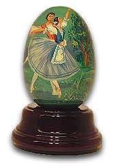 """Reuge """"Giselle"""" Handpainted Ballet Egg, Limited Edition with 18 Note Tune-Blue Danube, The (Strauss)"""