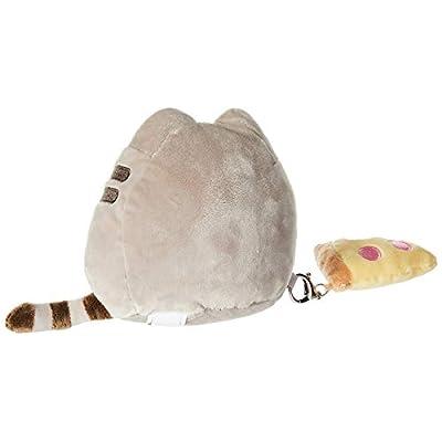 GUND Pusheen with Pizza & Bonus Clip Plush Stuffed Animal Cat, Grey, 6