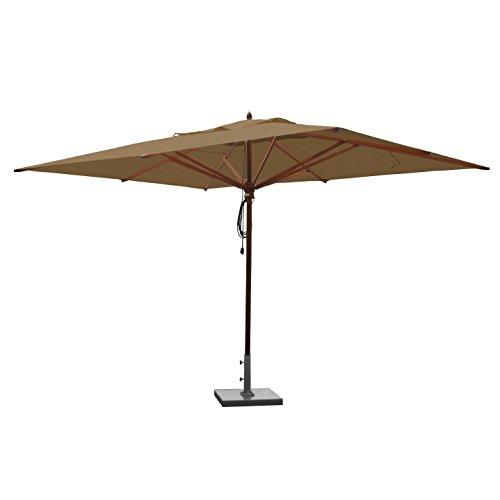 (Greencorner Mahogany Rectangle Patio Umbrella 10 x 13 Foot, Beige)