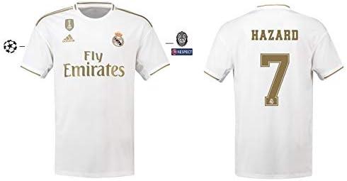 Real Madrid 2019-2020 - Camiseta de fútbol para hombre (talla M), diseño de Hazard 7: Amazon.es: Deportes y aire libre