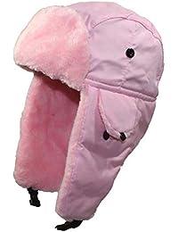 Best Winter Hats Big Kids Nylon Russian/Aviator Winter Cap (One Size) - Light Pink - 3 Pack