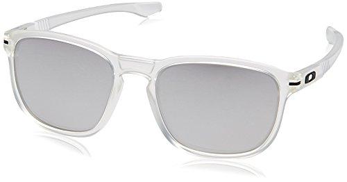 Oakley Men's Enduro OO9223-29 Non-Polarized Iridium Oval Sunglasses, Matte Clear, 55 - Oakley Sunglasses Twenty