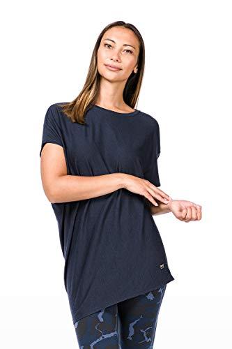 Yoga Merino Loose Super Camiseta Natural Azul W Marino De qOUOxE1vw
