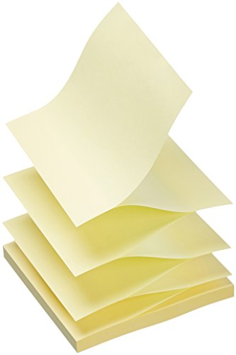 AmazonBasics Sticky Notes for Dispensers - 3 x 3, Yellow, 12-Pack
