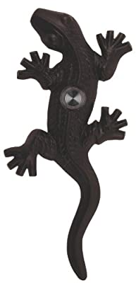 Waterwood Brass Large Lizard / Gecko Doorbell in Black