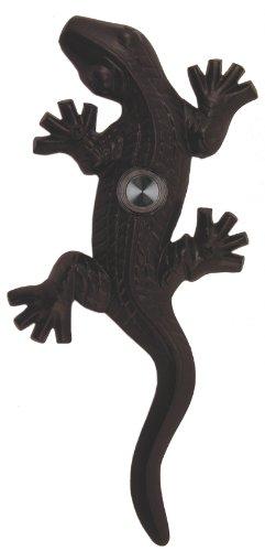 Waterwood Brass Large Lizard/Gecko Doorbell in Black ()