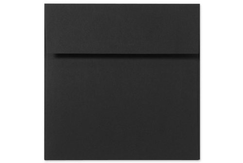 7 x 7 Square Envelopes - Midnight Black (50 Qty) | Perfect for Invitations, Announcements, Greeting Cards, Photos | F-8545-B-50 by Envelopes.com (Image #2)
