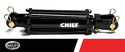 Chief TC3 3000 PSI Tie-Rod Cylinder for Double Acting 5'' Bore x 8 ASAE'' Stroke - 2 Rod Dia #12 SAE Port Retracted 20.25