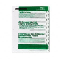AVE11680 - Avery Office Essentials Table 'N Tabs Dividers ()