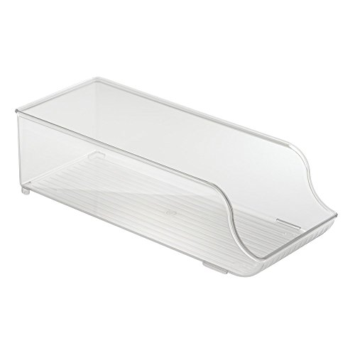 InterDesign Refrigerator Soda Can Organizer   Beverage Holder For Kitchen  Cabinet Or Pantry, Clear