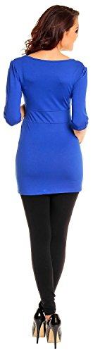 Zeta Ville De Las Mujeres Embarazo Maternidad Extra Mini Vestido Tramo Túnica Superior 940c azul real