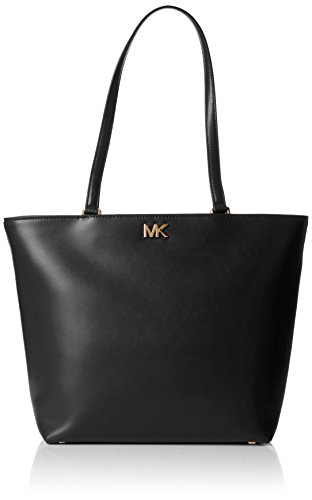 Hardware Tote Handbag - MICHAEL Michael Kors Women's Medium Mott Tote, Black, One Size